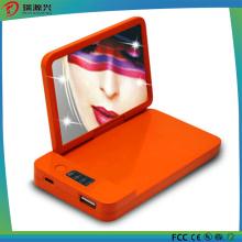 Оптовая новый дизайн Модный косметическое зеркало 4000mah аккумулятор зарядное устройство портативный питания Банк