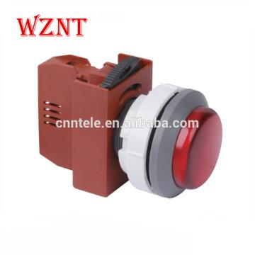 30mm indicateur de type simple interrupteur à bouton-poussoir LED momentané étanche 120v