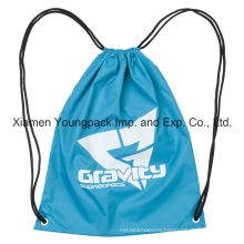 Promotional Custom Polyester Nylon Drawstring Cinch up Backpack