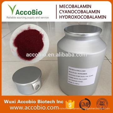 ¡VENTA AL MEJOR 2016! Vitamina B12 Methylcobalamin de alta calidad al por mayor / polvo puro de Methylcobalamin b12 / CAS 13422-55-4