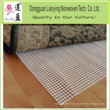 Tapis de tapis de sous-tapis sans tapis en PVC
