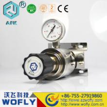 R12 1 / 2NPT Regulador de alta presión industrial de acero inoxidable 316L de nitrógeno