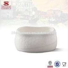 Guangzhou Bone porcelaine vaisselle unique en céramique blanc sucre bol
