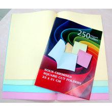 Dossier de dossier en papier mixé couleur pastel 70GSM 4