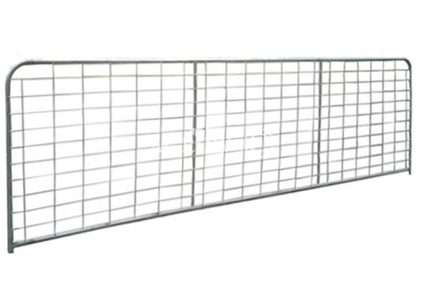 Vertical II-Stay Brace Mesh Infill Farm Gates