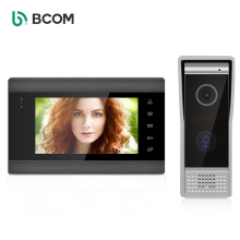 Bcom 4 wired interfones tecladosistema de interfone com vdeo de 7 polegadas , sensor button video intercom system