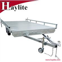 Heavy Duty Tandem Top Flat Deck Bed Remolques para automóviles Qingdao Factory Supply
