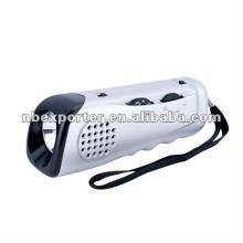 Lanterna com rádio