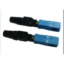 Connecteur fibre optique monomode rapide Sc / APC
