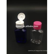 Garrafa plástica de garrafa de garrafa de garrafa de 30 ml com tampa