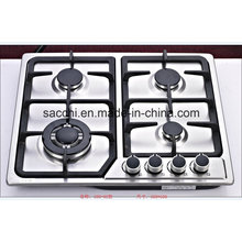 Sabaf Four Burner Stainless Steel Gas Hob