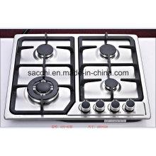 Sabaf, quatro, queimador, aço inoxidável, gás, fogão