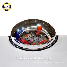 Miroir de demi-lune de sécurité intérieure / fabrication de miroir de dôme