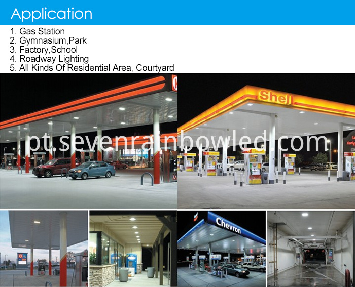 LED canopy lamp application