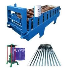 ondulado / onda de água colorido telhados de aço frio rolo dá forma à máquina com máquina arqueada