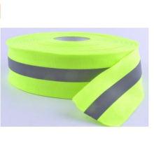 Reflektierendes Warnband annähen Lime Green Grey