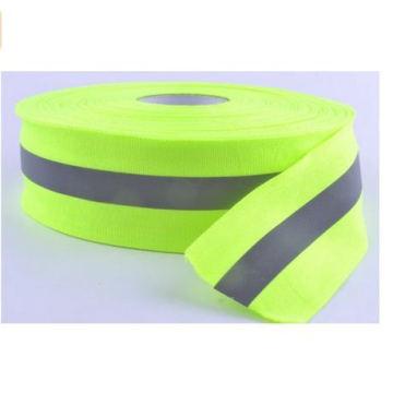 Светоотражающие ленты шить-на светло-зеленый серый