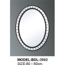 Miroir de salle de bains en verre argenté d'épaisseur de 5mm (BDL-3092)