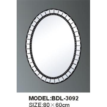 Espejo de baño de vidrio de plata de 5 mm de espesor (BDL-3092)