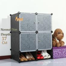 Cbinet de almacenamiento plástico negro DIY con muchos colores disponibles (FH-AL0518-4)