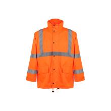 Capa de lluvia reflectante de seguridad para invierno (ANSI / ISEA107-2010)