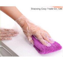 Venta al por mayor guantes médicos de plástico orbe PE guantes