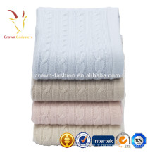 Cobertor de bebê de cashmere malha Luxe cabo colorido