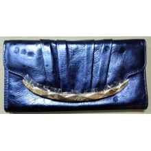 Guangzhou Supplier Genuine Leather Upscale Lady Purse Clutch Bag (W177)