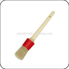 деревянная ручка, пластиковая обойма круглая кисть