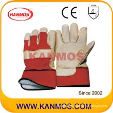 Рабочие перчатки для промышленной безопасности из желтой кожи свиньи (22303)