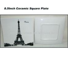 Plaque carrée en céramique de Paris de 8,5 po pour BS130601A
