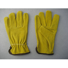 Yellow Pig Split Leather Driver Work Glove-9610