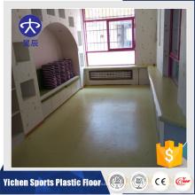Buena venta uv y capa transparente suelo de pvc utilizado jardín de infantes / suelo de vinilo suelo de plástico utilizado interior