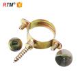 B17 3 8 M7 galvanisé collier de serrage en acier pour bois galvanisé pince