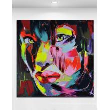 Pintura al óleo abstracta pintada a mano 100% (KVP-115)