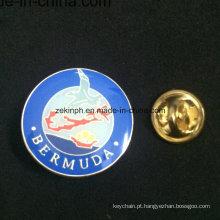 Emblema feito-à-medida por atacado do Pin do esmalte do nome do metal com cola Epoxy