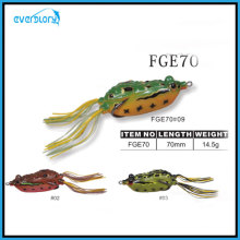 Leurre de grenouille couleur Vavid avec leurre de pêche à l'oeil 3D