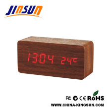 Wood Hourly Chime Led Alarm Clock