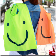 Custom logo smile face reciclar saco de nylon