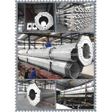 110KV China Pilar de acero octogonal de la energía eléctrica