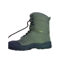 Fashion Army Green Lace up Winter Snow Rubber Boots (XD-106)
