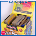 Base articulée de couvercle avec la boîte d'impression en papier rigide de rabat d'extension pour la carte de jeu