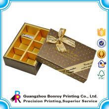 Caja de empaquetado de encargo del caramelo de chocolate de la cartulina con el divisor de papel