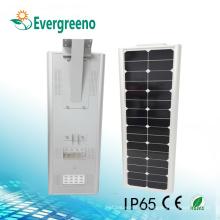Luz de calle al aire libre Luz de calle solar integrada con control remoto