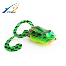 FGL001 Fishing Lure Jumping Frog Bass Killer VMC Hooks Soft Plastic Frog lure