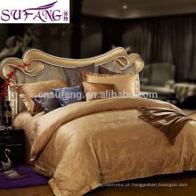 A roupa de cama grampeada longa 100% do algodão da impressão 60S reativa ajusta o linho de cama feito malha do jérsei