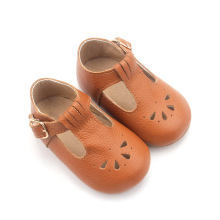 Genuine Cow couro Baby Girl Dress Shoes