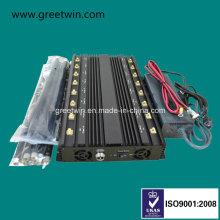 16 Antennas Mobile Phone Jammer/ WiFi GPS Jammer/VHF UHF Signal Jammer/ Car Remote Control Jammer (GW-JA16)