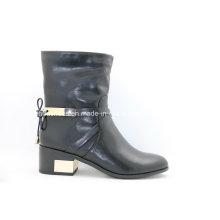 16fw European Trendy Low Metal Heel Women Boots