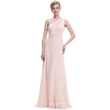 Starzz 2016 damas nuevo un hombro gasa largo vestido de dama de honor rosa ST000071-1
